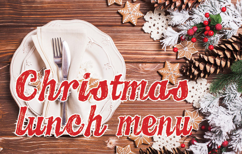 Barnabys Christmas Lunch Menu 2017