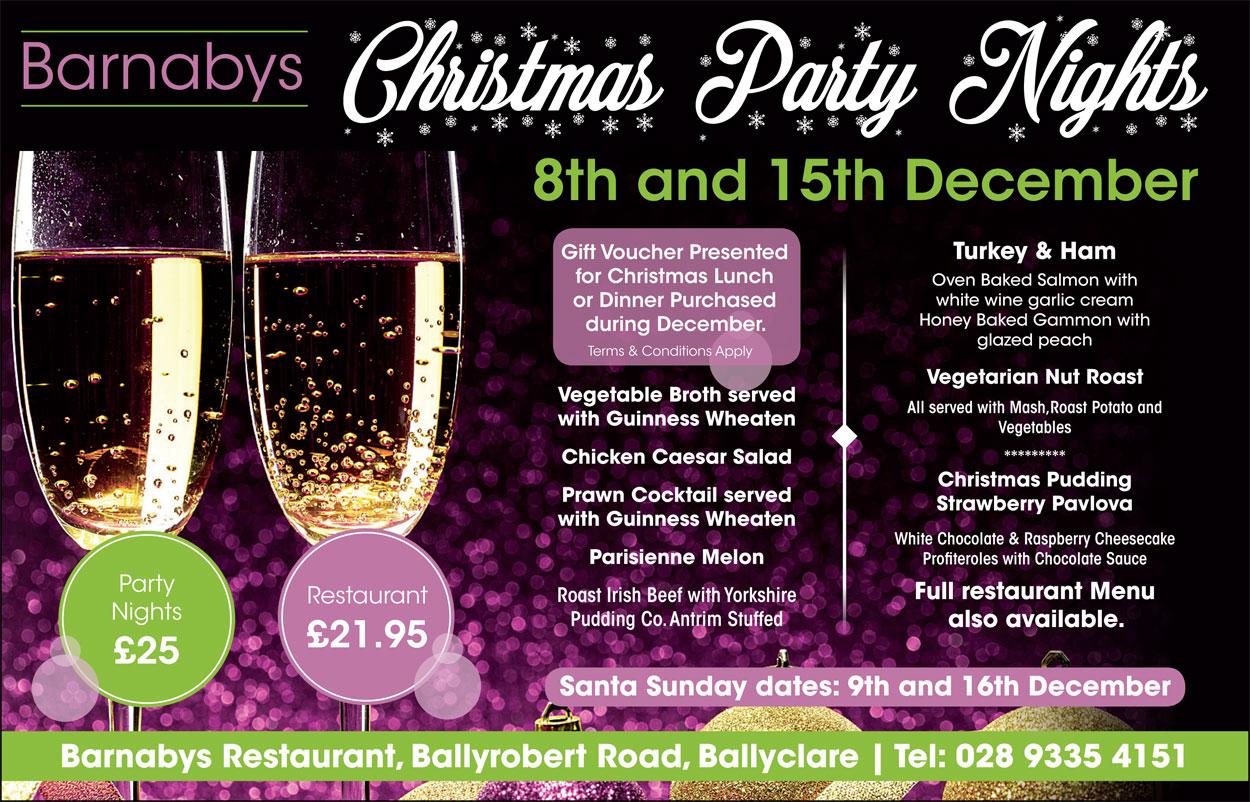 Barnabys Christmas Events