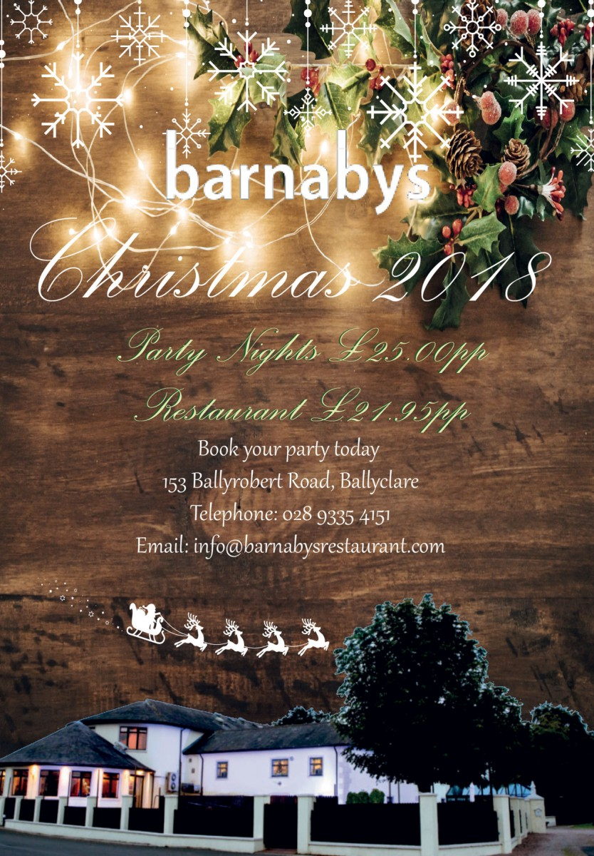 Barnabys Christmas Events