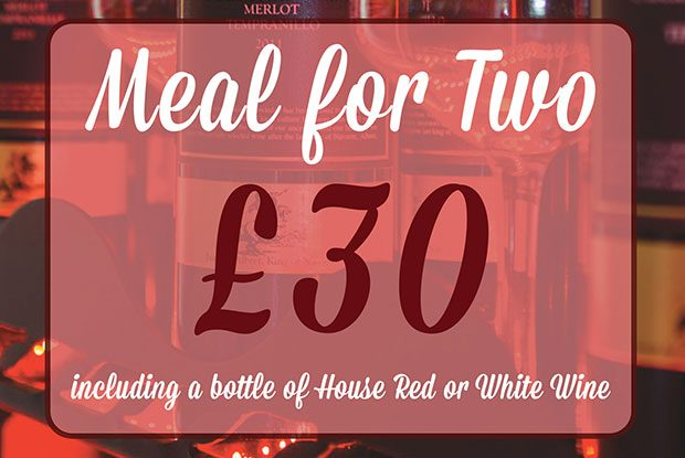 Friday Nights - Meal for Two - £30 including Wine!